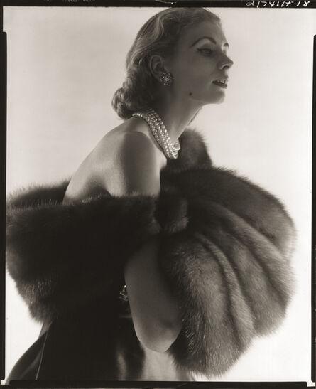 Horst P. Horst, 'Suzy Parker, Fur Series for Vogue', 1949