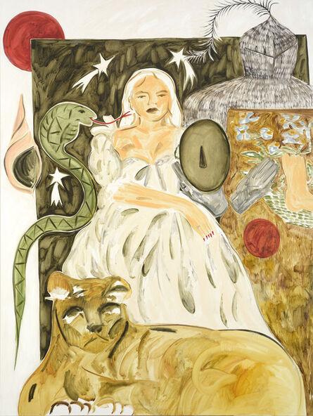 Faye Wei Wei, 'Lady, Three White Leopards Sat Under a Juniper Tree', 2017