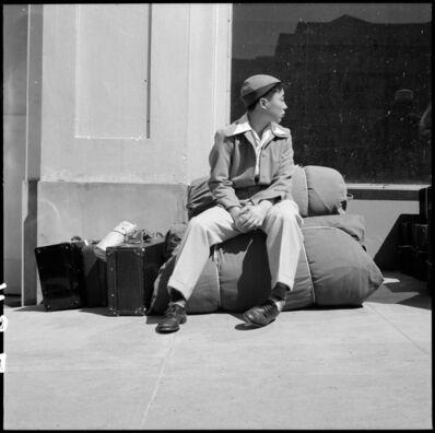 Dorothea Lange, 'Waiting with Luggage, San Francisco', 1942