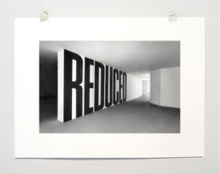 """Martí Cormand, 'Formalizing their Concept: Lawrence Weiner's """"REDUCED"""", 1969', 2013"""
