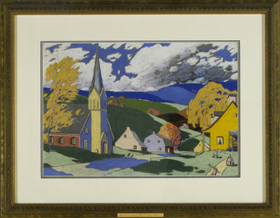 Marc-Aurèle Fortin, 'Village à Charlevoix', ca. 1925