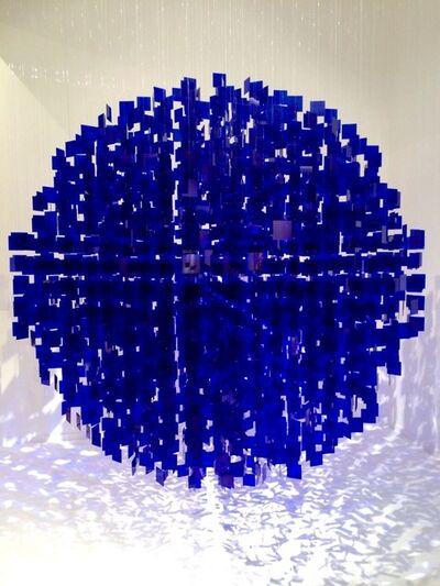 Julio Le Parc, 'Sphere Bleu, No 1', 2001