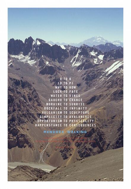 Richard Long, 'Mendoza Walking', 2016