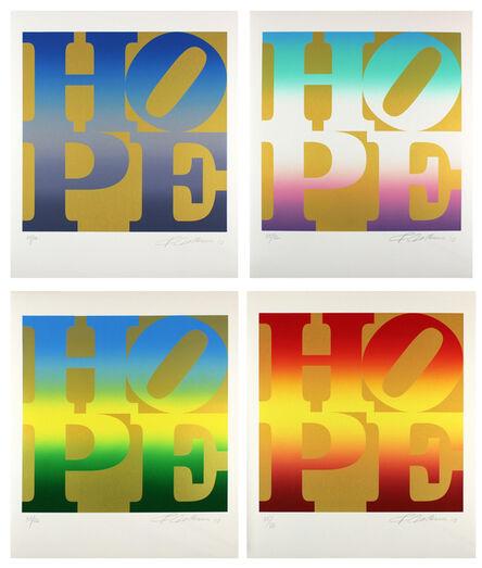 Robert Indiana, 'FOUR SEASONS OF HOPE PORTFOLIO (GOLD)', 2012