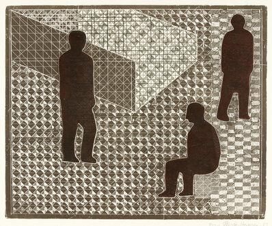Dan Sterup-Hansen, 'Komposition med Tre Figurer (Composition with Three Figures)', 1953
