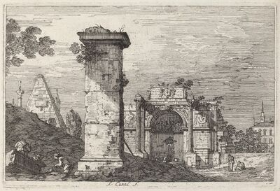 Canaletto, 'Landscape with Ruined Monuments', ca. 1740