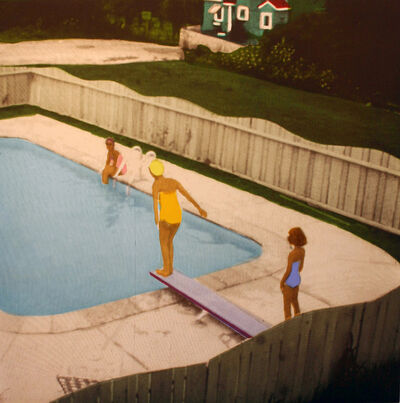 Isca Greenfield-Sanders, 'Set of Four: The Swimming Pool Etchings (Yellow Suit Diver)', 2006