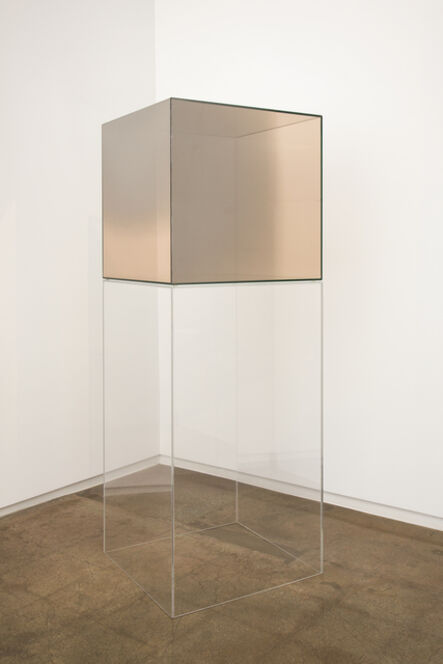 Larry Bell, 'Cube #15 (Amber)', 2005