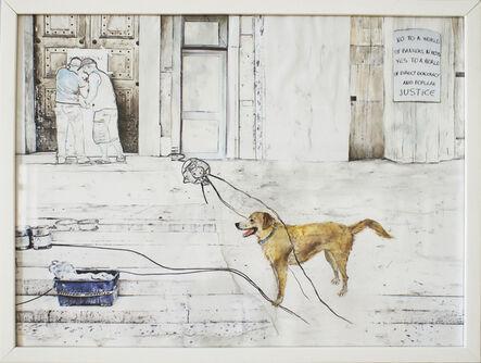 Christine S. Prantauer, 'loukanikos, riot dog 3', 2016