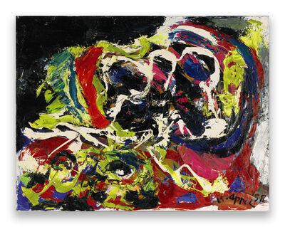 Karel Appel, 'Two heads in a landscape', 1958