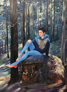 Paulina Olowska, 'Blue Forest', 2019