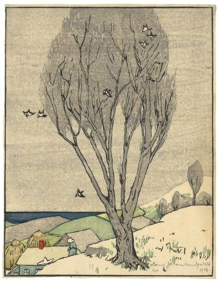 Bror Julius Olsson Nordfeldt, 'The Tree. [The Tree Spring, Grey Tree.]', 1906