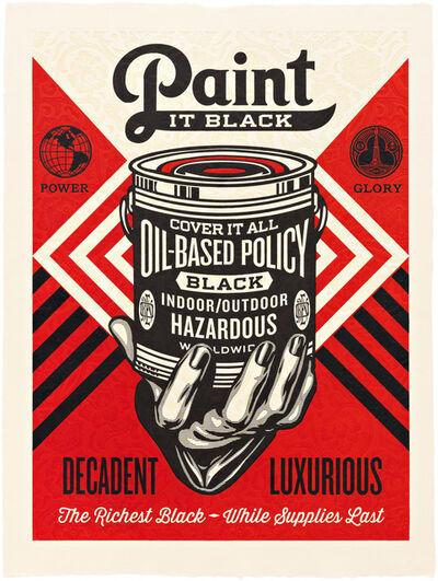 Shepard Fairey, 'Paint it Black (Hand)', 2015