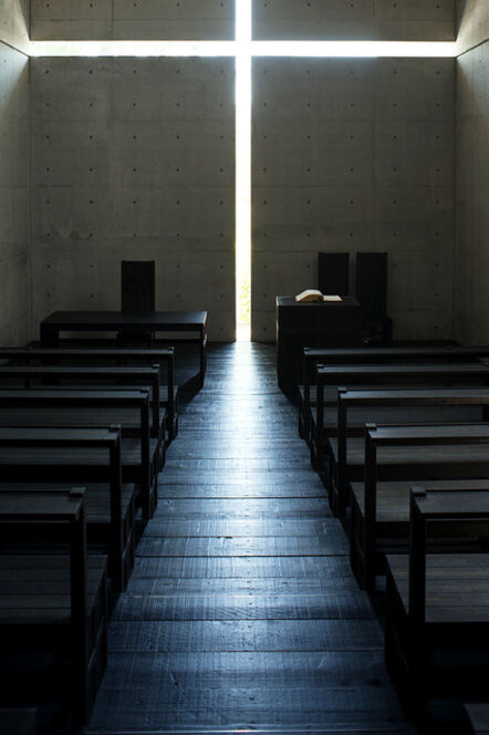 Tadao Ando, 'Church of the Light (color 1500 B)', taken in 1989-printed in 2019