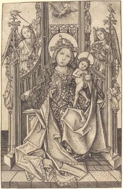 Master E.S., 'Madonna and Child Enthroned', ca. 1466