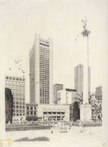 Carlos Diniz, 'Hyatt House Hotel - Tower View', 1970