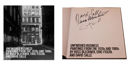 """David Salle, '""""Unfinished Business: Paintings from the 1970s and 1980s"""", 2016, SIGNED by Ross BLECKNER, Eric FISCHL, and David SALLE, Exhibition Catalogue Hardcover,', 2016"""