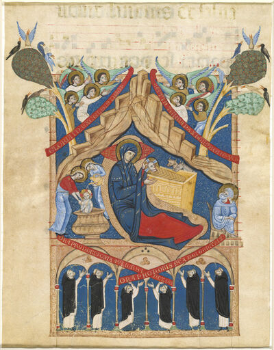 Master of Imola, 'The Nativity with Six Dominican Monks', 1265/1274