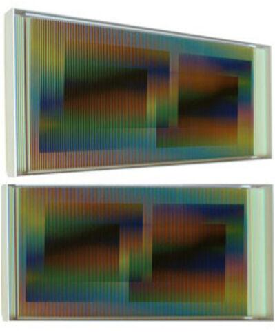 Carlos Cruz-Diez, 'Chromointerférence mural manipulable Série Marión B', 2009
