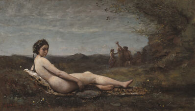 Jean-Baptiste-Camille Corot, 'The Repose', 1860-reworked c. 1865/70