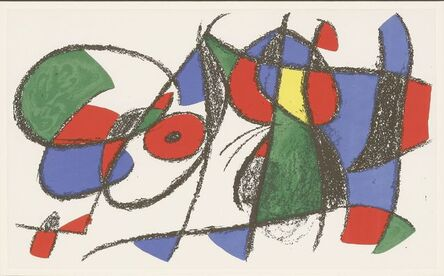 Joan Miró, 'From the Lithograph', 1972/1975
