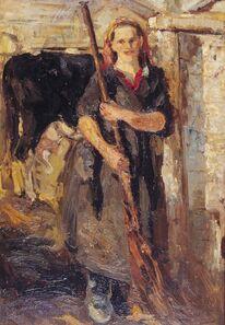 Pavel Izmailovich Khaykin, 'Milkmaid', 1948