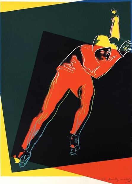 Andy Warhol, 'Speed Skater (Unique TP)', 1983
