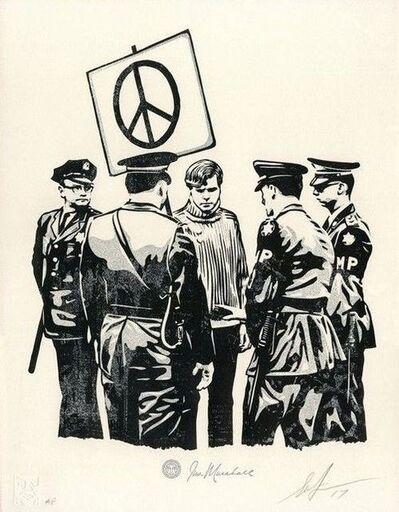 Shepard Fairey, 'Peaceful Protestor  letterpress', 2018