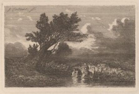Alexandre Calame, 'Laundresses', 1840