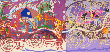 Ajarb Bernard Ategwa, 'Bike boys dem di nang', 2017