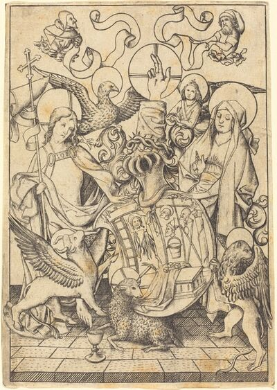 Master E.S., 'Coat of Arms of the Passion', ca. 1455/1460