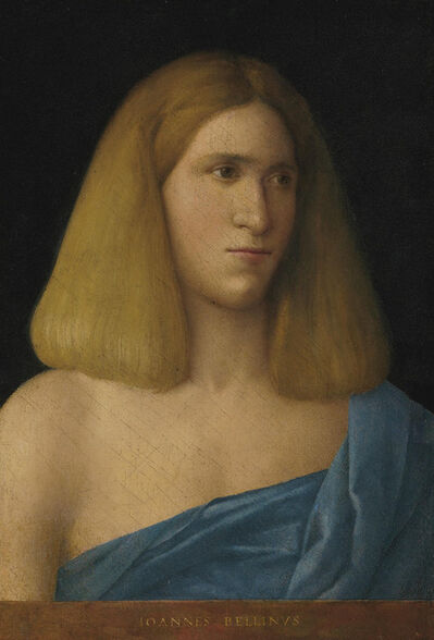 Attributed to Giovanni Bellini, 'Portrait of a young man, bust-length'
