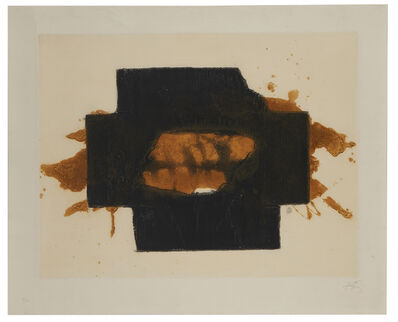 """Antoni Tàpies, 'Untitled plate 9, from the suite of 17, """"Nocturn Matinal""""', 1970"""