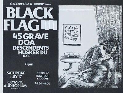 Raymond Pettibon, 'Raymond Pettibon Black Flag punk flyer 1982', 1982