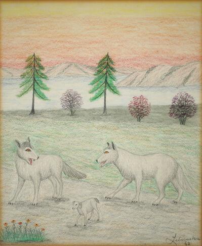 Lawrence Lebduska, 'Wolves and Lamb', 1962