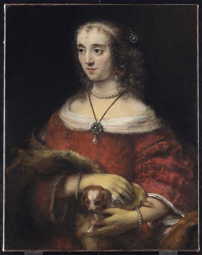 Rembrandt van Rijn, 'Portrait of a Lady with a Lap Dog', 1662-1665