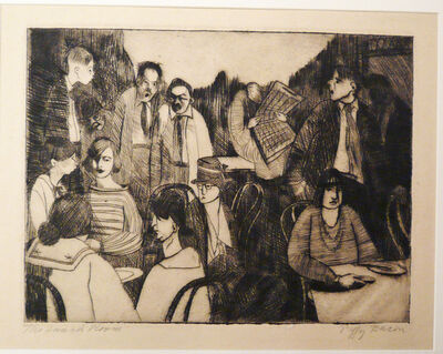 Peggy Bacon, 'THE LUNCH ROOM (LUNCH AT THE LEAGUE)', 1918