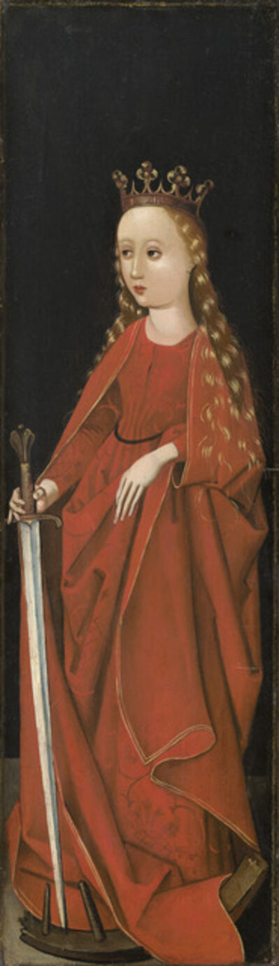 Master of the Starck Triptych, 'Saint Catherine [right wing exterior]', ca. 1480/1490