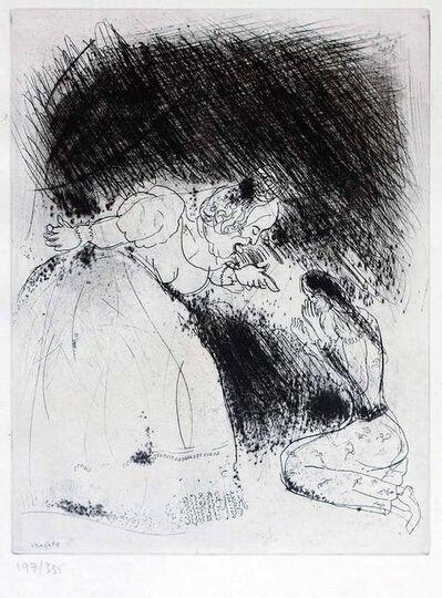 "Marc Chagall, 'La Femme du Gouverneur gronde sa fille - From the series ""Les Ames Mortes""', 1923-1927"