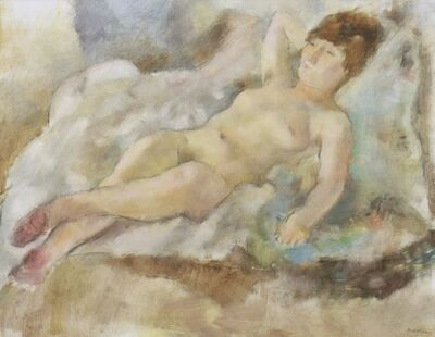 Jules Pascin, 'Rebecca Couchée', 1927