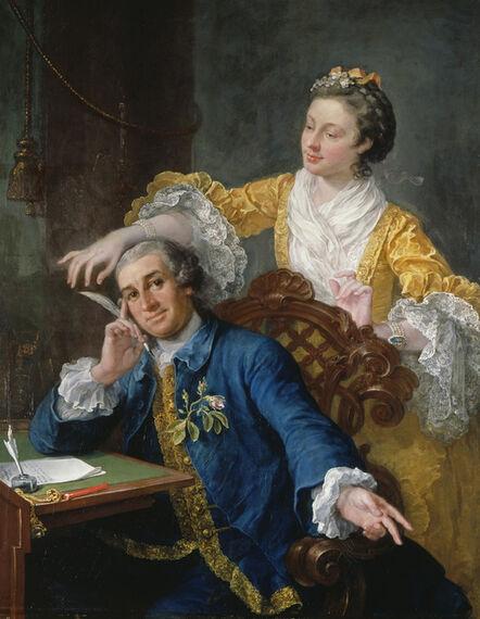 William Hogarth, 'David Garrick with his Wife Eva-Maria Veigel', ca. 1757-1764