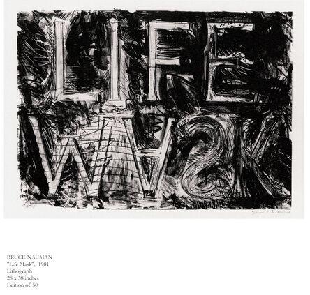 Bruce Nauman, 'Life Mask', 1981