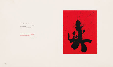 Robert Motherwell, 'Red Samurai, plate 21 from the Octavio Paz Suite', 1988