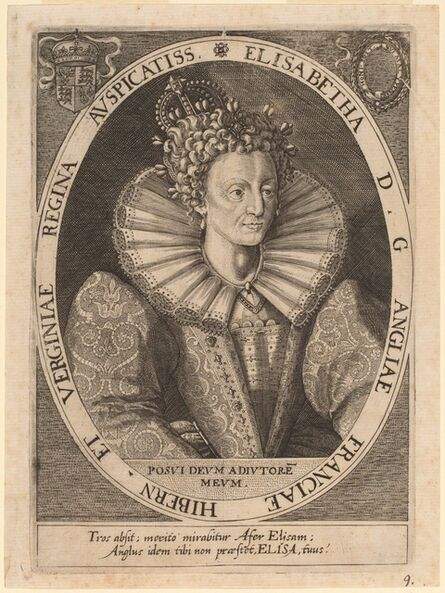 Dominicus Custos after Crispijn de Passe I, 'Queen Elizabeth'