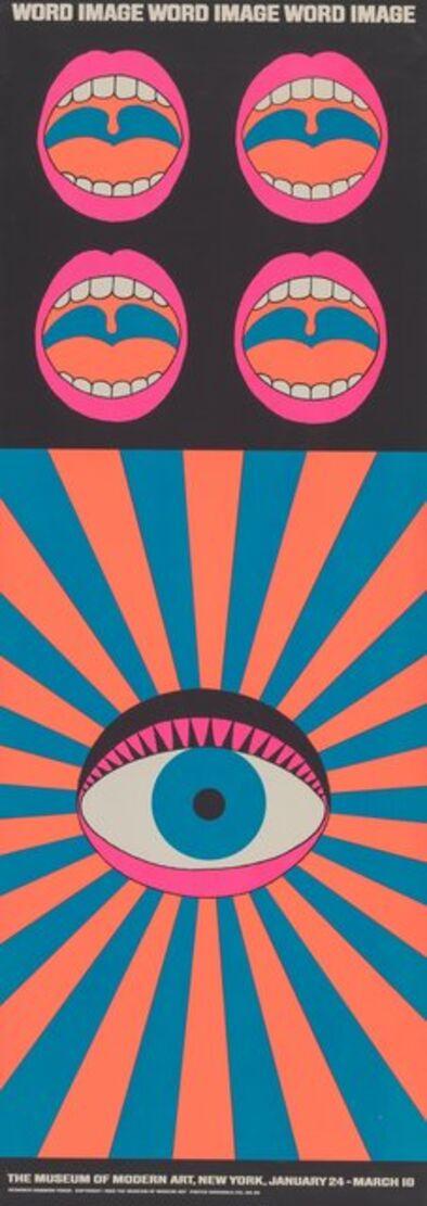 Tadanori Yokoo, 'Word and Image, exhibition poster', 1968