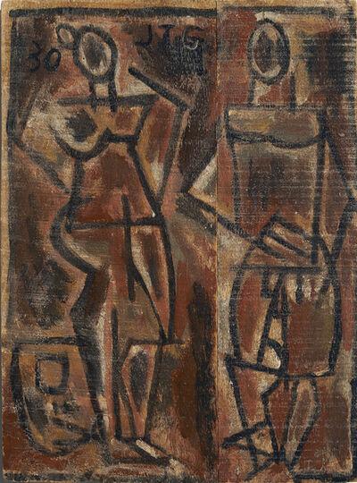 Joaquín Torres-García, 'Dos figuras primitivas (Two primitive figures)', 1930