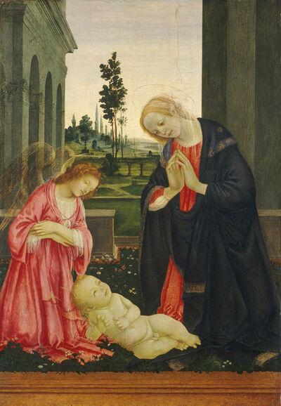 Filippino Lippi, 'The Adoration of the Child', ca. 1475/1480