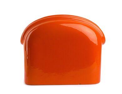 Gabbianelli, 'Vase in orange enamel'