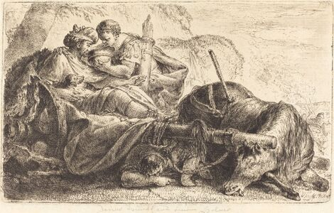 Bernhard Rode, 'Darius Receiving Water from the Helmet of One of Alexander's Soldiers', 1774