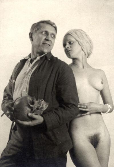 Frantisek Drtikol, 'Self-Portrait with Model', ca. 1930